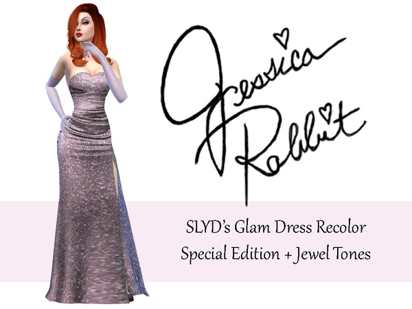 Sims 4 Glam Dress Recolor by Misstex89 at TSR