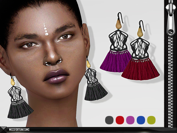 MFS Rosie Earrings by MissFortune at TSR image 4316 Sims 4 Updates