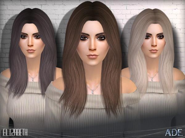 Sims 4 Elizabeth hair by Ade Darma at TSR