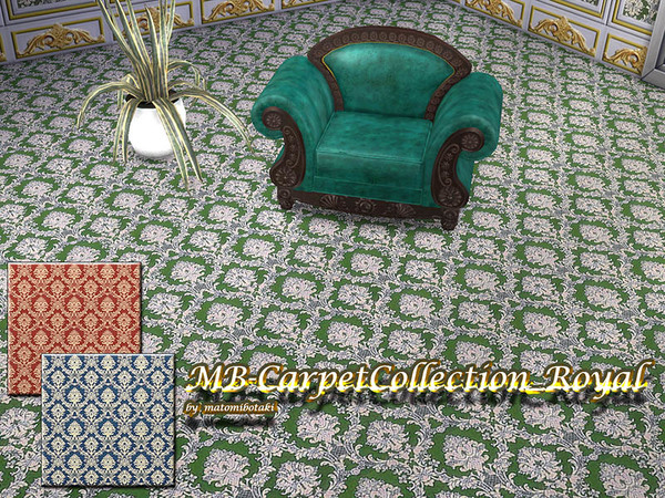 Sims 4 MB Carpet Collection Royal by matomibotaki at TSR