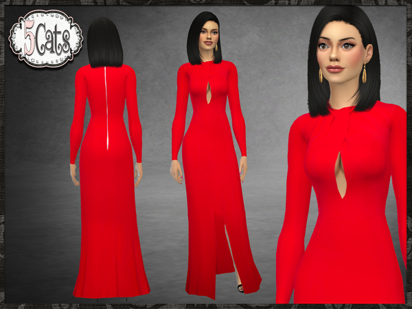 ZM Cady Front Slit Gown by Five5Cats at TSR image 453 Sims 4 Updates
