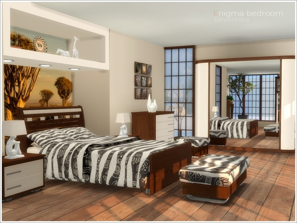 Sims 4 Enigma bedroom by Severinka at TSR