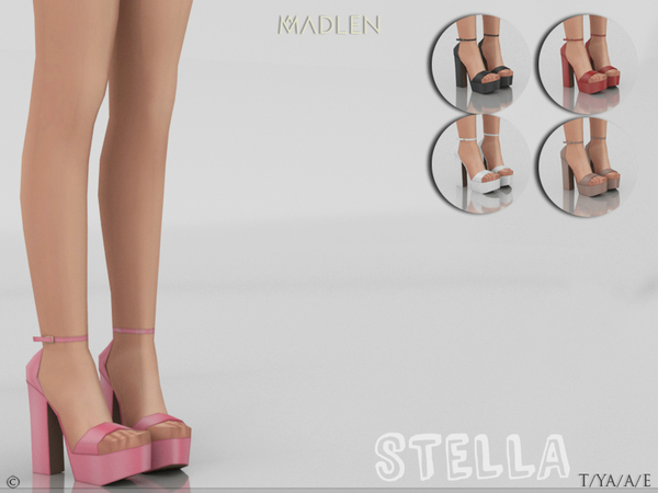Sims 4 Madlen Stella Shoes by MJ95 at TSR