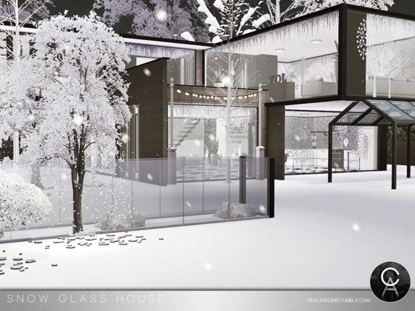 Snow Glass House by Pralinesims at TSR image 4816 Sims 4 Updates