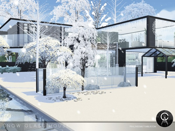 Snow Glass House by Pralinesims at TSR image 4916 Sims 4 Updates