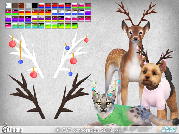 Horns for pets by CATcorp at TSR image 492 Sims 4 Updates