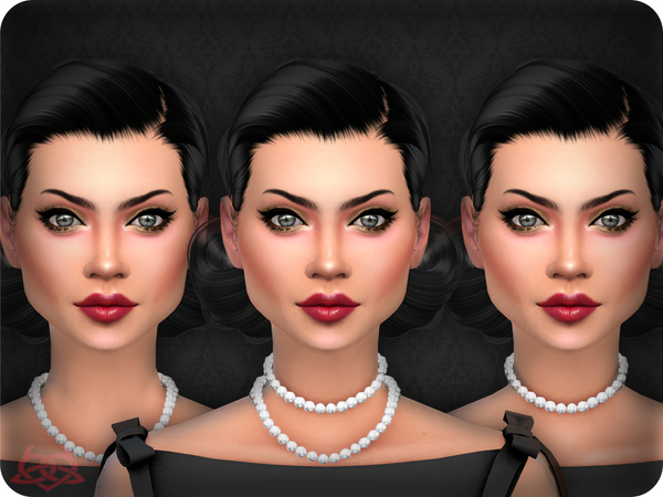 Sims 4 Classic Pearls x3 by Colores Urbanos at TSR