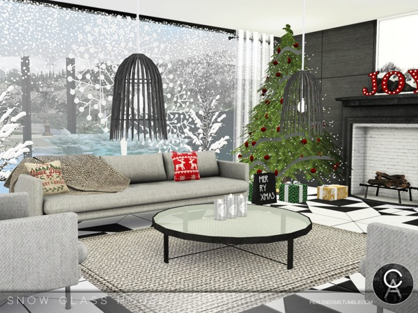 Snow Glass House by Pralinesims at TSR image 5015 Sims 4 Updates