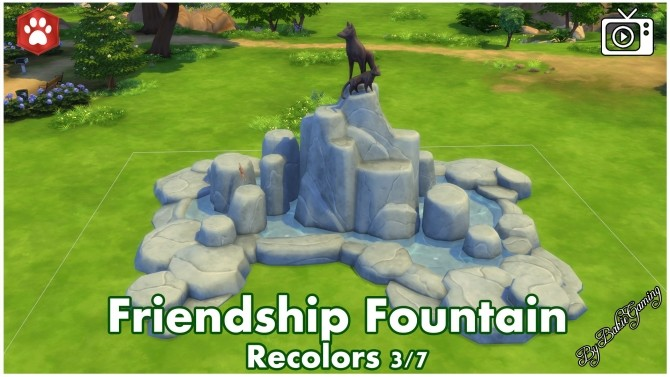 Sims 4 Friendship Fountain by Bakie at Mod The Sims