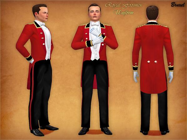 Sims 4 Royal Footmen Uniform by Bruxel at TSR