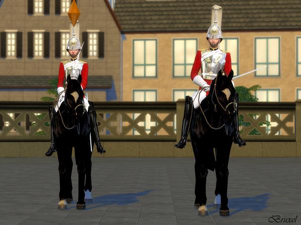 Sims 4 Royal Lifeguard Set by Bruxel at TSR