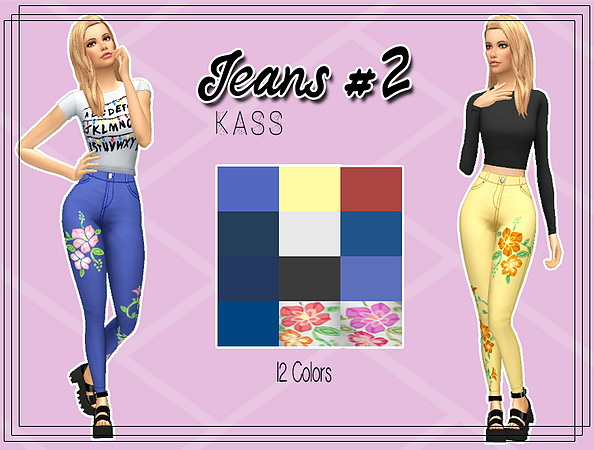 Sims 4 Jeans #2 at Kass