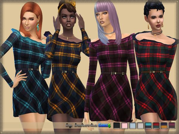 Sims 4 Frill Dress by bukovka at TSR