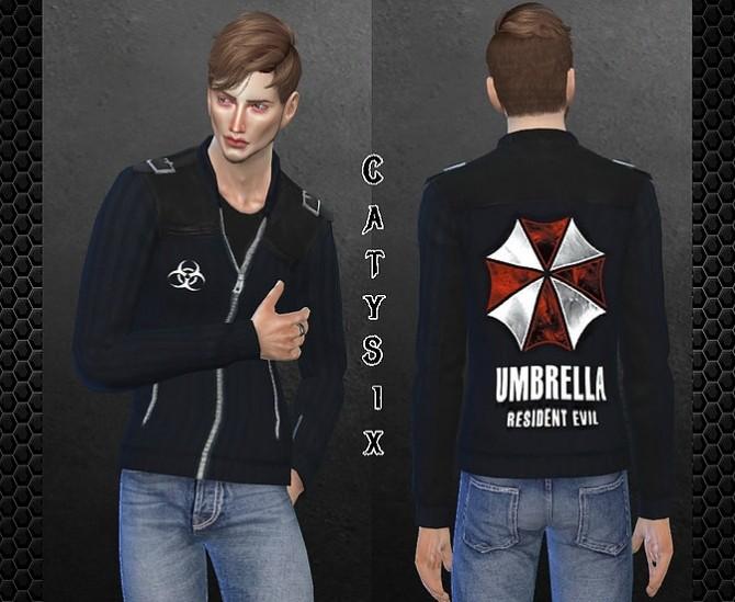 Sims 4 Resident Evil Umbrella Jacket at CatySix