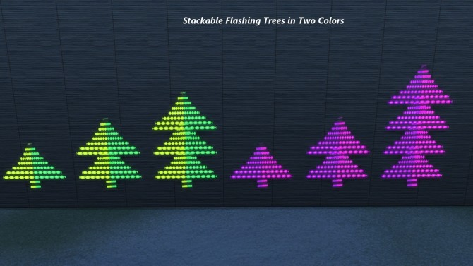 Sims 4 Blinking Light Displays (Animated) by Snowhaze at Mod The Sims