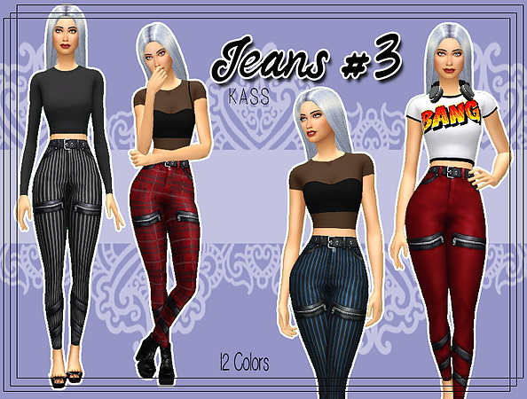 Sims 4 Jeans #3 at Kass
