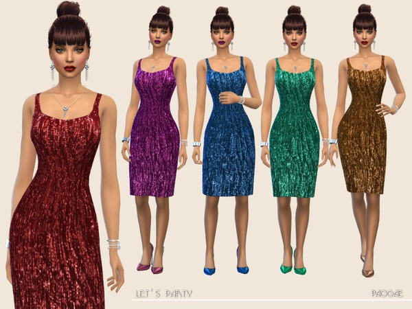 Sims 4 Lets Party dress by Paogae at TSR