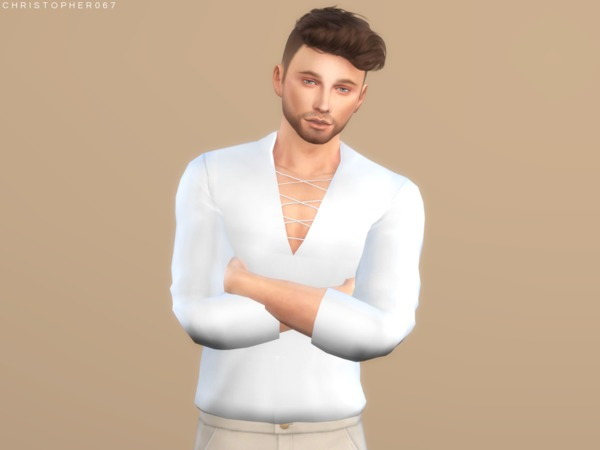 Voodoo Top Tucked by Christopher067 at TSR image 5411 Sims 4 Updates