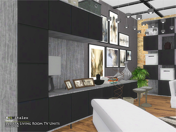 Svelsta Living Room TV Units by ArtVitalex at TSR image 5416 Sims 4 Updates
