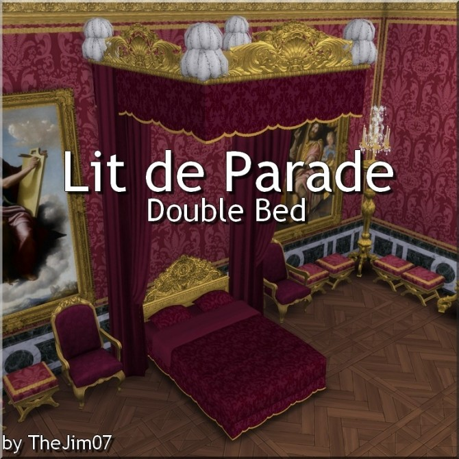 Lit de Parade Double Bed by TheJim07 at Mod The Sims image 5512 670x670 Sims 4 Updates