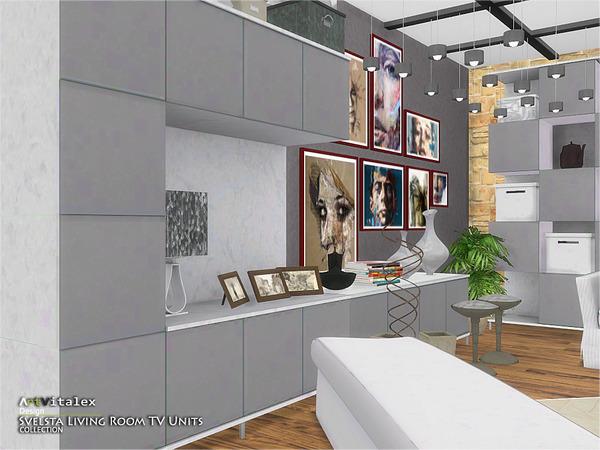 Svelsta Living Room TV Units by ArtVitalex at TSR image 5516 Sims 4 Updates