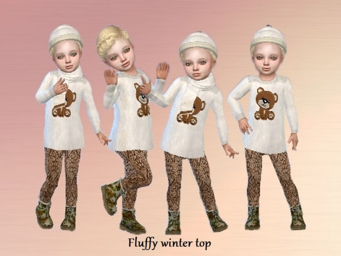 Sims 4 Fluffy winter set at Trudie55