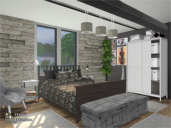 Sims 4 Virgo Bedroom by ArtVitalex at TSR