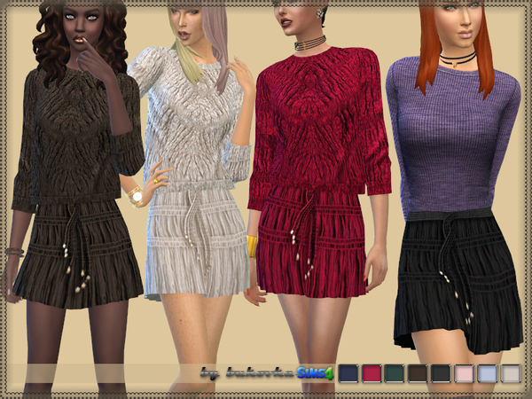Corrugated Skirt by bukovka at TSR image 602 Sims 4 Updates
