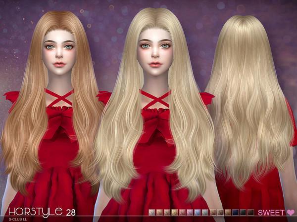 Sims 4 Hair Sweet n28 by S Club at TSR