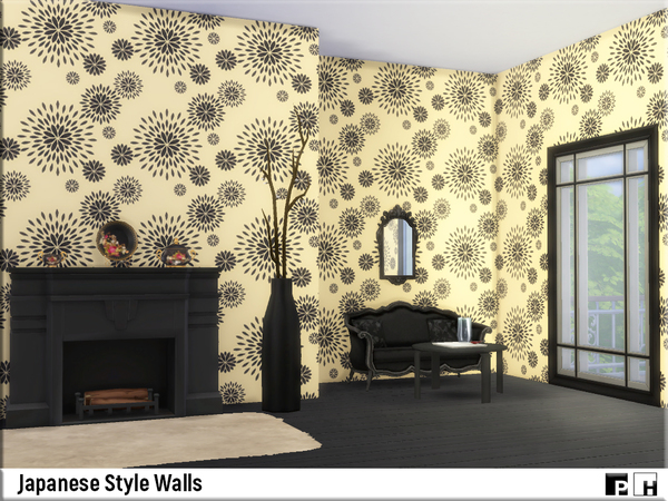 Japanese Style Walls by Pinkfizzzzz at TSR image 6104 Sims 4 Updates