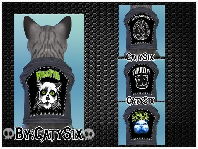 Ready to rock Cats Clothes VOL 2 at CatySix image 614 670x506 Sims 4 Updates