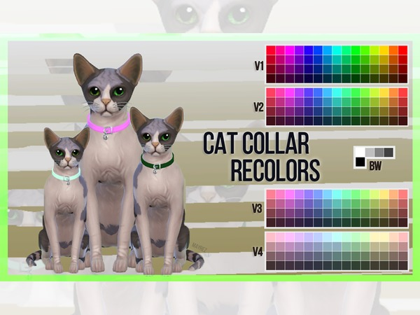 Cat Collar Recolors by mayrez at TSR image 6417 Sims 4 Updates