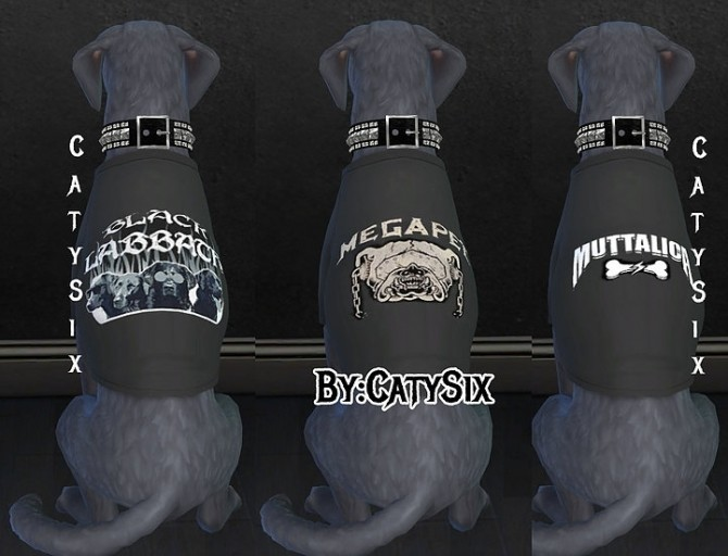 T shirts Dogs/Metal Bands at CatySix image 645 670x512 Sims 4 Updates