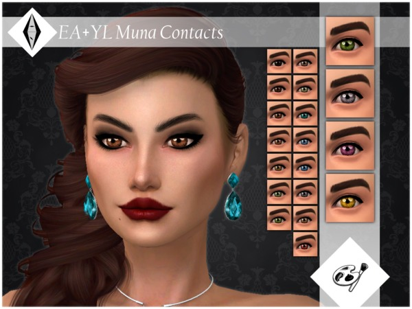 Sims 4 Muna Contacts Facepaint by ALExIA483 at TSR