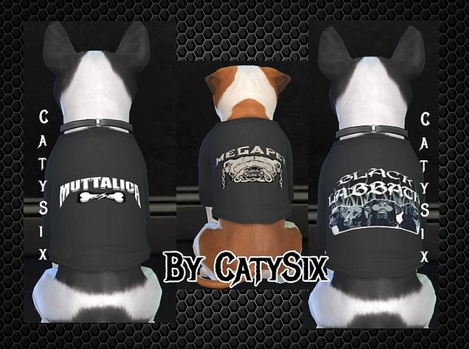 T shirts Dogs/Metal Bands at CatySix image 655 670x499 Sims 4 Updates
