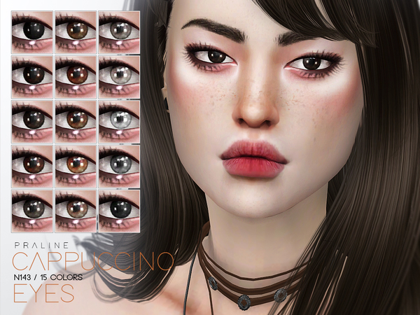 Sims 4 Cappuccino Eyes N143 by Pralinesims at TSR