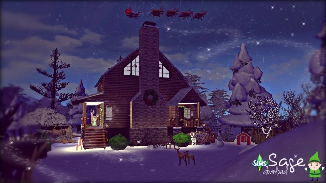 Sims 4 Sage house by Rissy Rawr at TSR