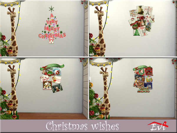 Sims 4 Christmas wishes seasonal greetings cards by evi at TSR