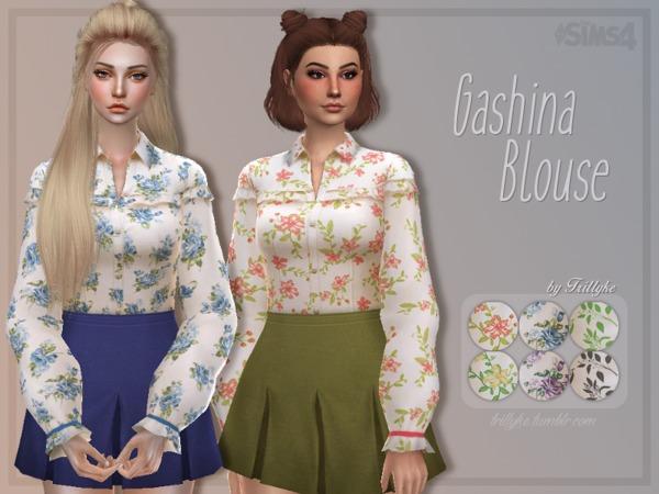 Sims 4 Gashina Blouse by Trillyke at TSR