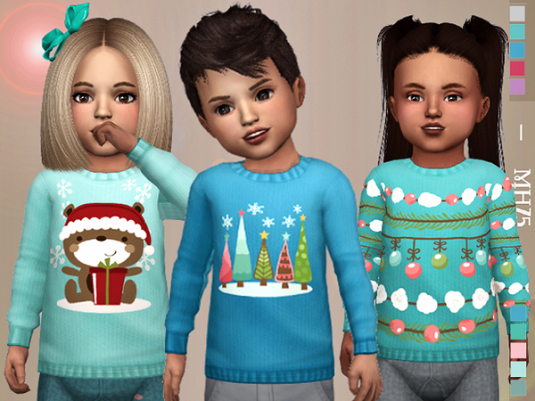 Winter Kiss Sweaters by Margeh 75 at TSR image 681 Sims 4 Updates