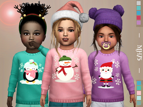 Winter Kiss Sweaters by Margeh 75 at TSR image 691 Sims 4 Updates