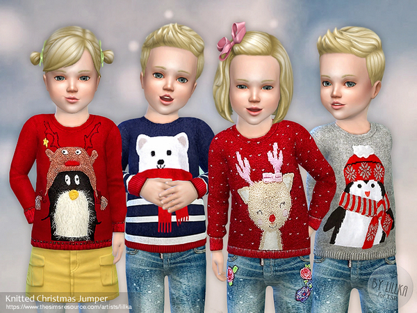 Knitted Christmas Jumper by lillka at TSR image 701 Sims 4 Updates