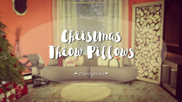 Throw Pillows Sims 4 : Christmas Throw Pillows at Evey Sims Sims 4 Updates