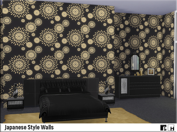 Japanese Style Walls by Pinkfizzzzz at TSR image 7102 Sims 4 Updates