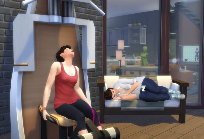 Sims 4 Fitness Controls by roBurky at Mod The Sims