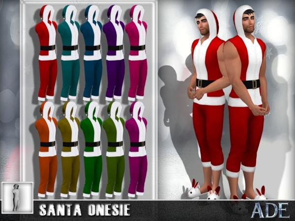 Sims 4 Santa Onesie by Ade Darma at TSR