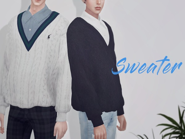 Sweater 02 M by KKs at TSR image 722 Sims 4 Updates