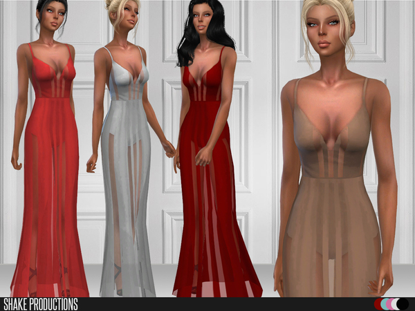 Sims 4 92 Gown by ShakeProductions at TSR