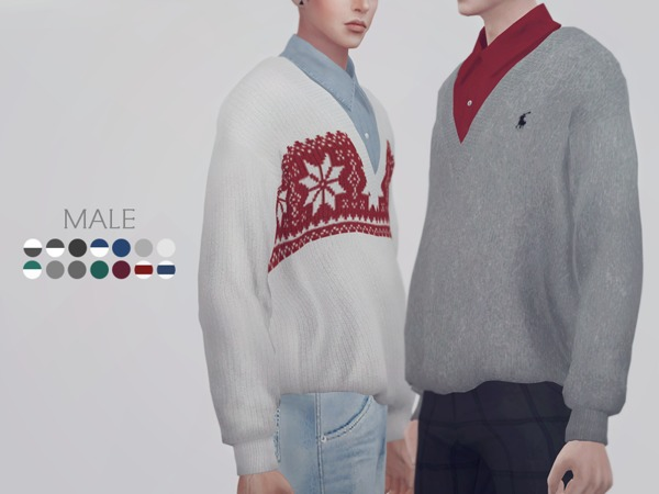 Sweater 02 M by KKs at TSR image 732 Sims 4 Updates