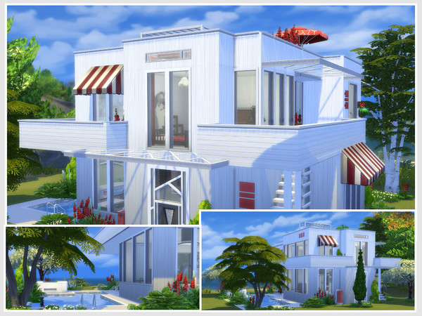 Sims 4 Rouge baiser house by philo at TSR
